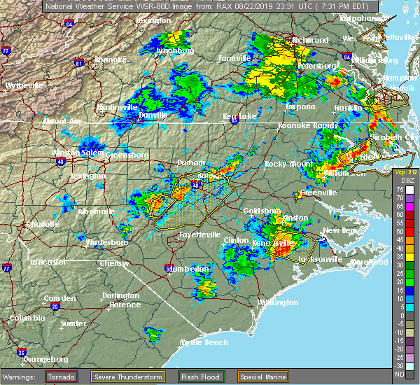 Interactive Hail Maps - Hail Map for Raleigh, NC