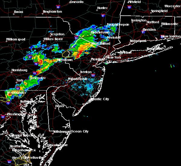 Radar Image for Severe Thunderstorms near Califon, NJ at 8/22/2019 7:38 PM EDT