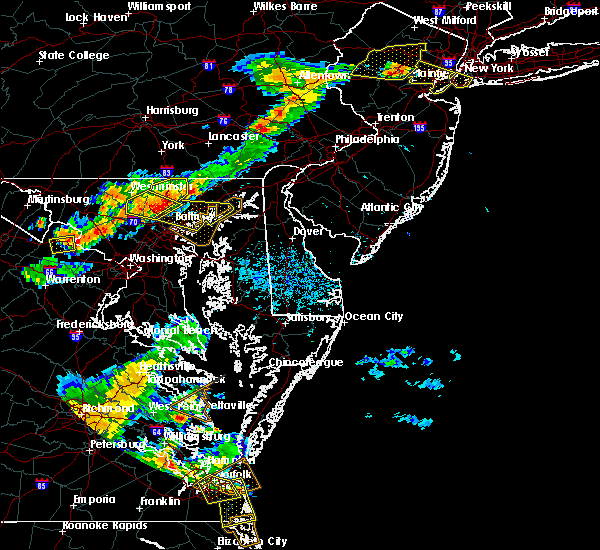 Radar Image for Severe Thunderstorms near Parkville, MD at 8/22/2019 8:00 PM EDT
