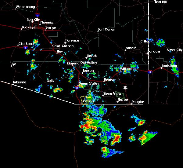Radar Image for Severe Thunderstorms near Beyerville, AZ at 8/22/2019 5:29 PM MST