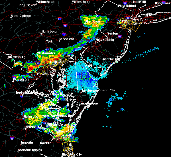 Radar Image for Severe Thunderstorms near Essex, MD at 8/22/2019 8:30 PM EDT