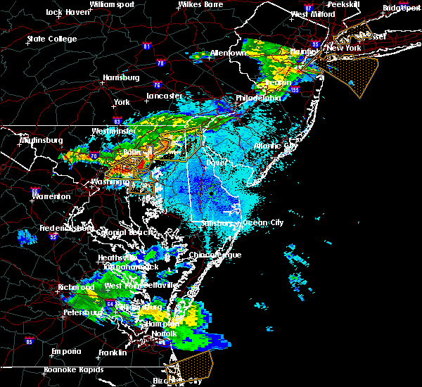 Radar Image for Severe Thunderstorms near Dover, DE at 8/22/2019 9:25 PM EDT