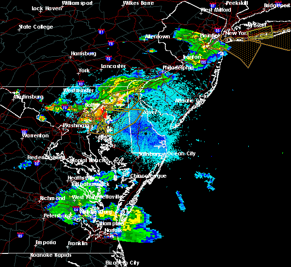 Radar Image for Severe Thunderstorms near Dover, DE at 8/22/2019 9:50 PM EDT