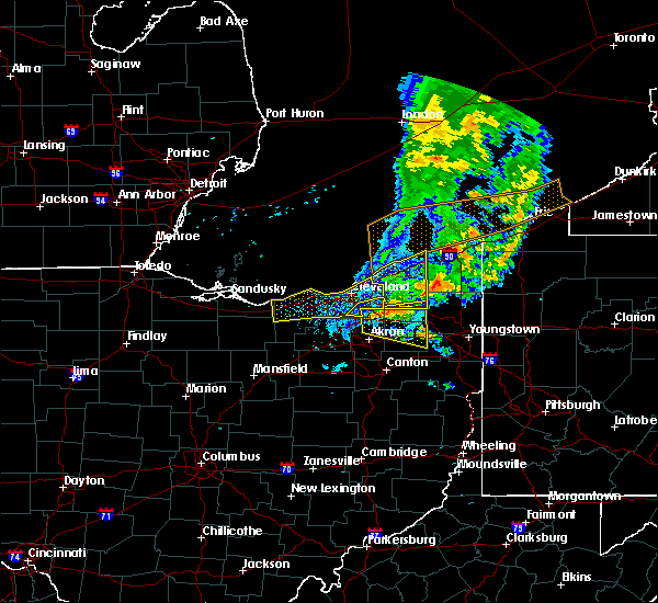 Radar Image for Severe Thunderstorms near Ravenna, OH at 6/22/2015 6:29 PM EDT