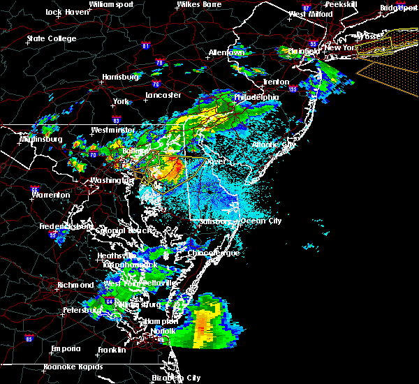 Radar Image for Severe Thunderstorms near Dover, DE at 8/22/2019 10:17 PM EDT