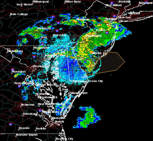 Radar Image for Severe Thunderstorms near Sea Isle City, NJ at 8/22/2019 11:45 PM EDT