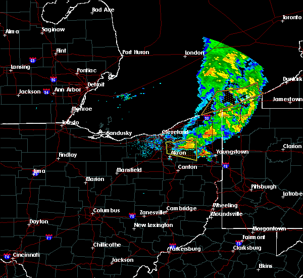 Radar Image for Severe Thunderstorms near Ravenna, OH at 6/22/2015 6:45 PM EDT