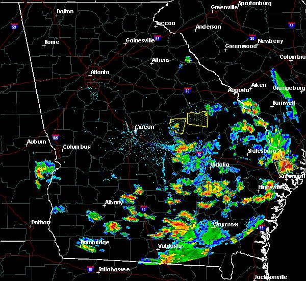 Radar Image for Severe Thunderstorms near Sandersville, GA at 6/22/2015 6:53 PM EDT
