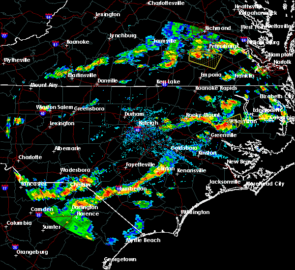 Radar Image for Severe Thunderstorms near Dortches, NC at 8/23/2019 5:29 PM EDT