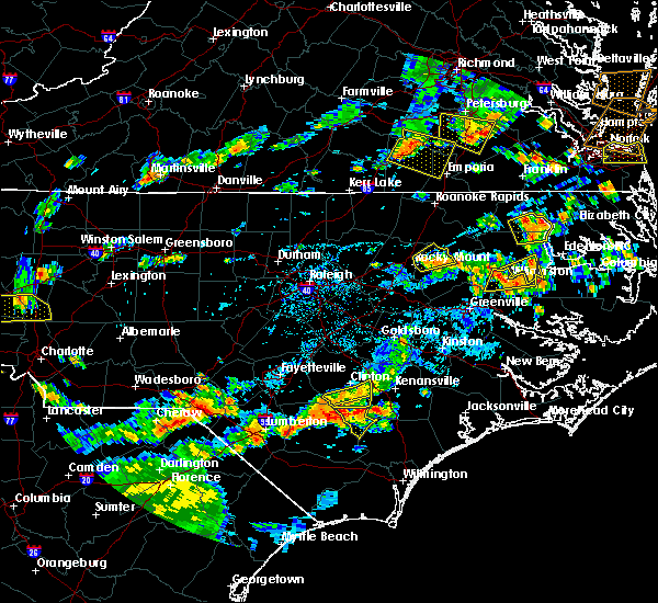 Radar Image for Severe Thunderstorms near Whitakers, NC at 8/23/2019 5:51 PM EDT