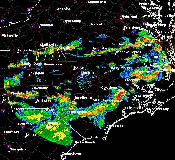 Radar Image for Severe Thunderstorms near Milton, NC at 8/23/2019 6:50 PM EDT
