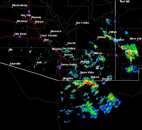 Radar Image for Severe Thunderstorms near Douglas, AZ at 8/23/2019 4:11 PM MST