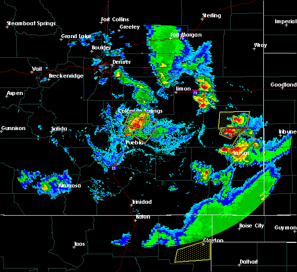 Radar Image for Severe Thunderstorms near Ellicott, CO at 8/23/2019 5:35 PM MDT