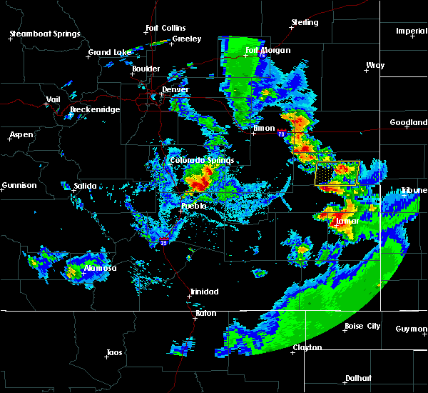 Radar Image for Severe Thunderstorms near Eads, CO at 8/23/2019 5:48 PM MDT