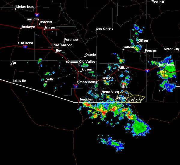 Radar Image for Severe Thunderstorms near Douglas, AZ at 8/23/2019 4:58 PM MST