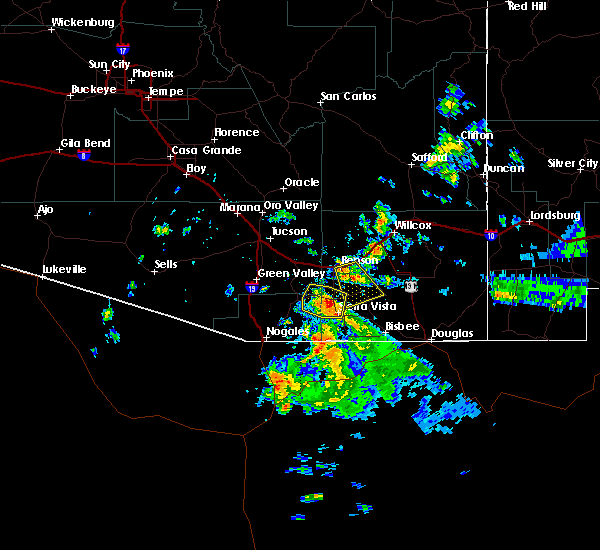 Radar Image for Severe Thunderstorms near Green Valley, AZ at 8/23/2019 6:30 PM MST