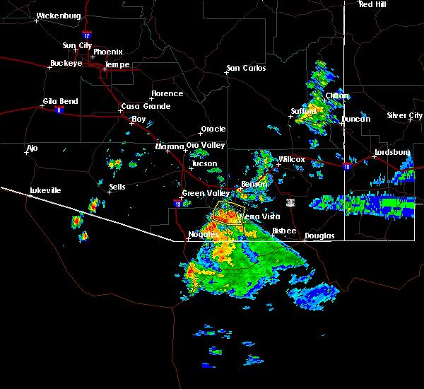 Radar Image for Severe Thunderstorms near Green Valley, AZ at 8/23/2019 6:45 PM MST