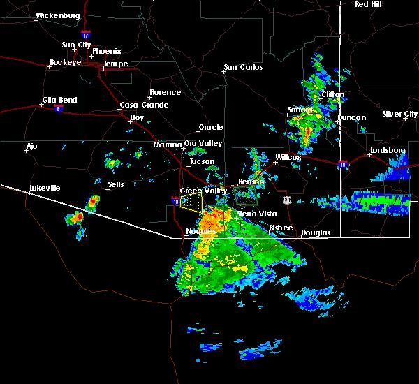 Radar Image for Severe Thunderstorms near Tubac, AZ at 8/23/2019 7:19 PM MST