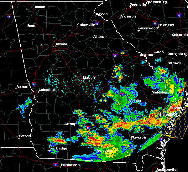 Radar Image for Severe Thunderstorms near Tennille, GA at 6/22/2015 7:48 PM EDT
