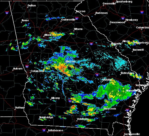 Radar Image for Severe Thunderstorms near Macon, GA at 8/24/2019 5:52 PM EDT