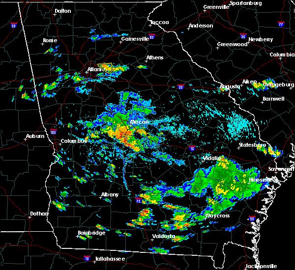 Radar Image for Severe Thunderstorms near Warner Robins, GA at 8/24/2019 5:52 PM EDT