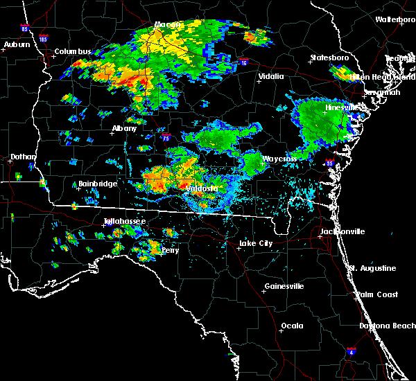 Radar Image for Severe Thunderstorms near Valdosta, GA at 8/24/2019 7:14 PM EDT