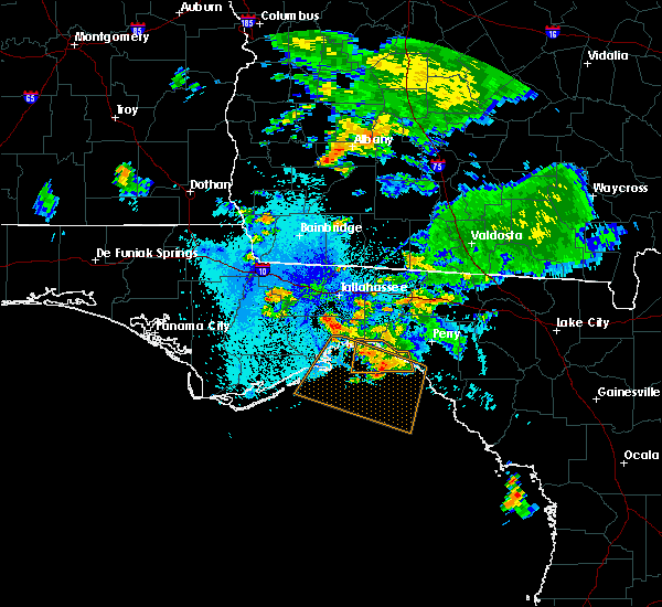 Radar Image for Severe Thunderstorms near Woodville, FL at 8/24/2019 9:10 PM EDT