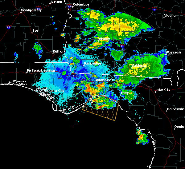 Radar Image for Severe Thunderstorms near Woodville, FL at 8/24/2019 9:41 PM EDT