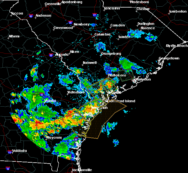 Radar Image for Severe Thunderstorms near Yemassee, SC at 6/22/2015 7:57 PM EDT