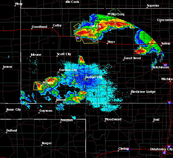 Radar Image for Severe Thunderstorms near Ellis, KS at 8/24/2019 10:28 PM CDT