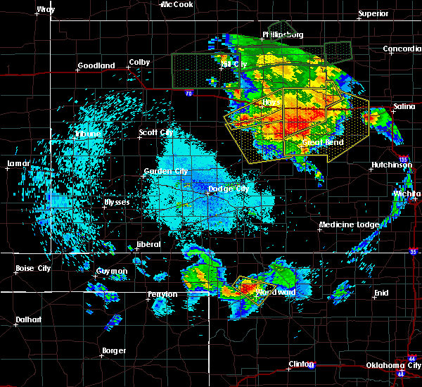 Radar Image for Severe Thunderstorms near Victoria, KS at 8/25/2019 12:14 AM CDT