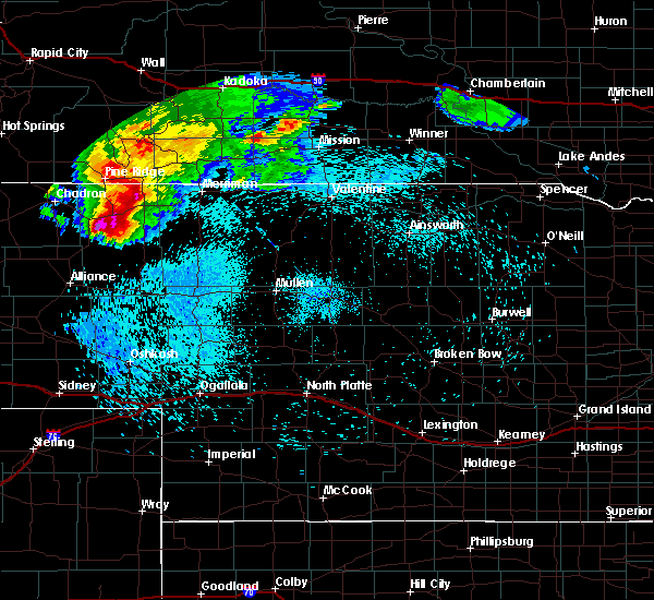 Radar Image for Severe Thunderstorms near Clinton, NE at 8/25/2019 10:27 PM MDT