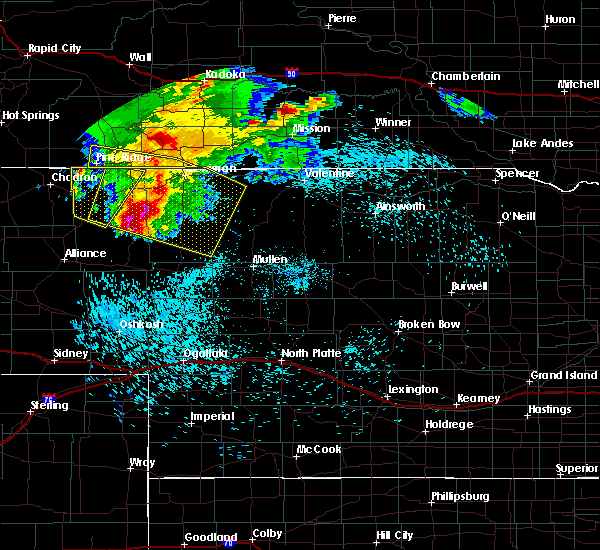 Radar Image for Severe Thunderstorms near Clinton, NE at 8/25/2019 10:48 PM MDT