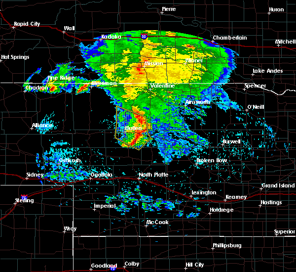 Radar Image for Severe Thunderstorms near Brownlee, NE at 8/26/2019 1:20 AM CDT
