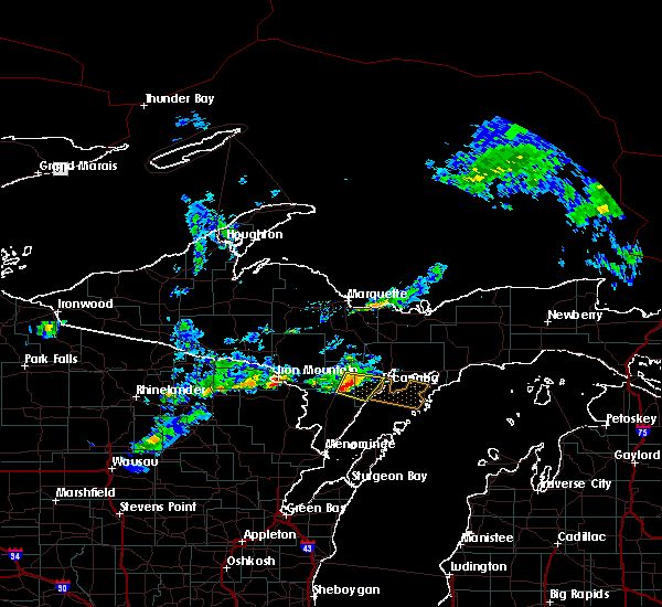 Radar Image for Severe Thunderstorms near Escanaba, MI at 6/22/2015 8:42 PM EDT