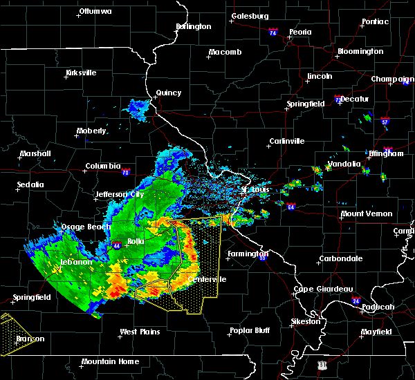 Radar Image for Severe Thunderstorms near Eminence, MO at 8/26/2019 3:51 PM CDT