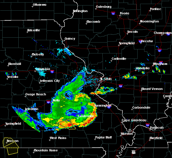 Radar Image for Severe Thunderstorms near Eminence, MO at 8/26/2019 4:16 PM CDT