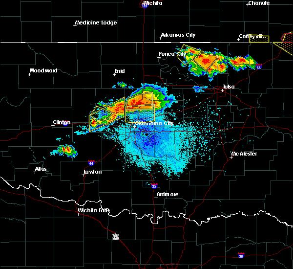 Radar Image for Severe Thunderstorms near Oklahoma City, OK at 8/26/2019 9:00 PM CDT