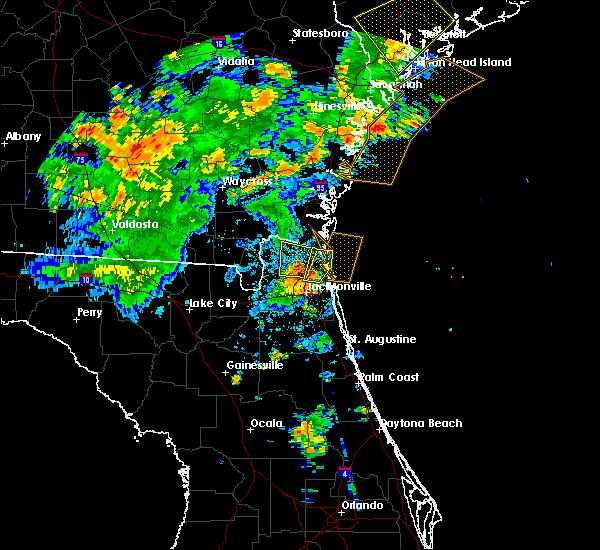 Radar Image for Severe Thunderstorms near Yulee, FL at 6/22/2015 8:54 PM EDT