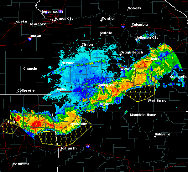 Radar Image for Severe Thunderstorms near Norwood, MO at 8/26/2019 11:34 PM CDT