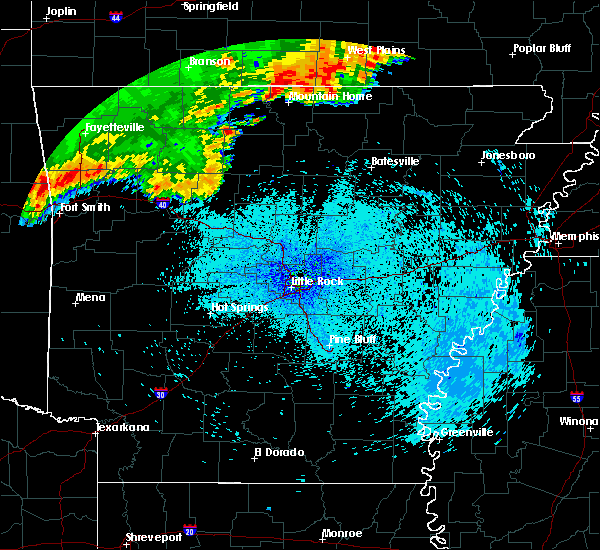 Radar Image for Severe Thunderstorms near Marshall, AR at 8/27/2019 12:55 AM CDT