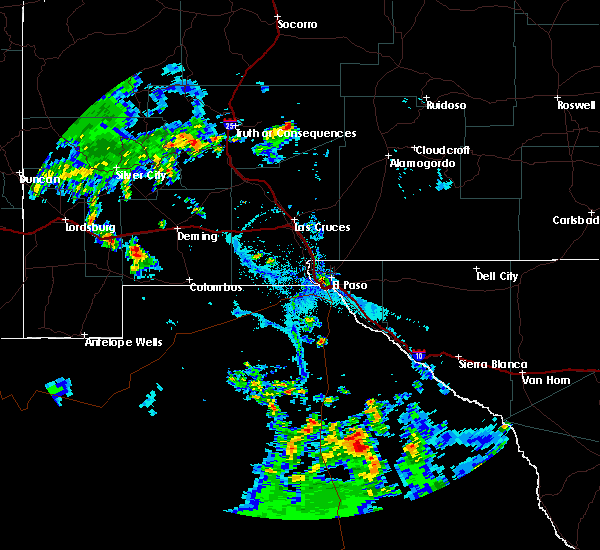 Interactive Hail Maps - Hail Map for El Paso, TX