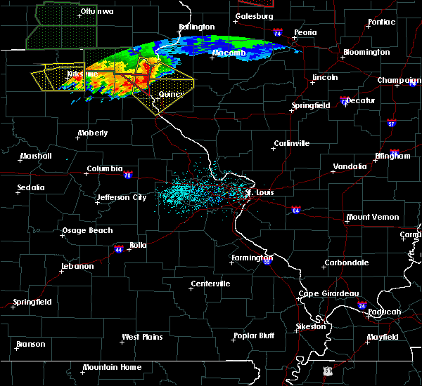 Radar Image for Severe Thunderstorms near Hannibal, MO at 6/22/2015 8:29 PM CDT