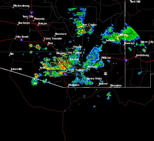 Radar Image for Severe Thunderstorms near Drexel Heights, AZ at 8/28/2019 5:47 PM MST