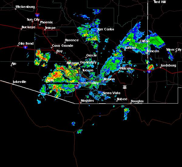 Radar Image for Severe Thunderstorms near Drexel Heights, AZ at 8/28/2019 6:28 PM MST