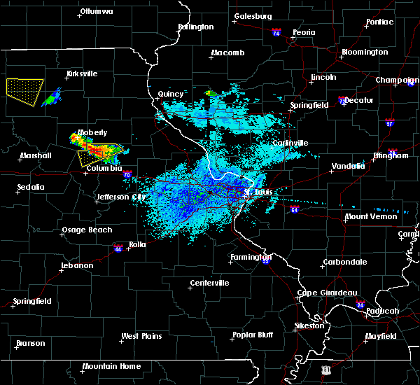 Radar Image for Severe Thunderstorms near Clark, MO at 8/29/2019 4:02 PM CDT