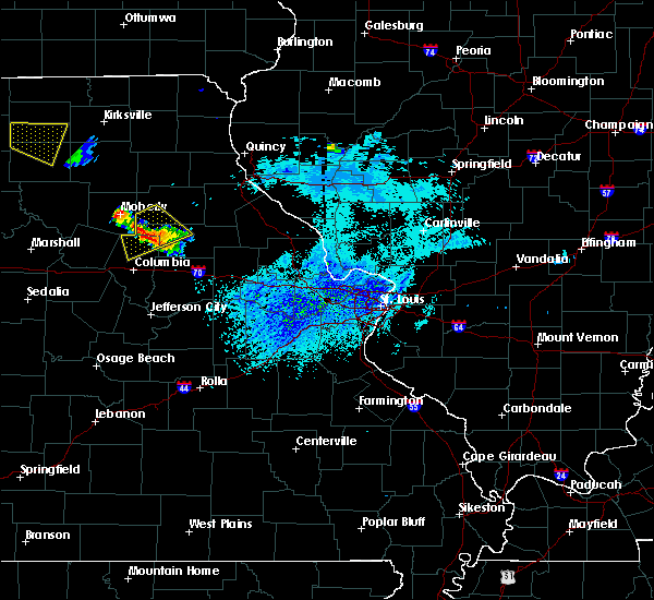Radar Image for Severe Thunderstorms near Clark, MO at 8/29/2019 4:10 PM CDT