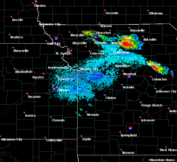 Radar Image for Severe Thunderstorms near Browning, MO at 8/29/2019 4:28 PM CDT