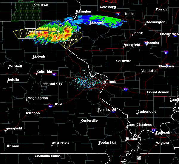 Radar Image for Severe Thunderstorms near Quincy, IL at 6/22/2015 8:39 PM CDT