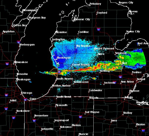 Radar Image for Severe Thunderstorms near Allegan, MI at 8/29/2019 9:28 PM EDT